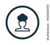 vector illustration of chef icon