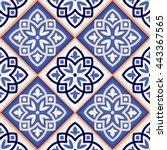 gorgeous seamless patchwork... | Shutterstock . vector #443367565