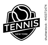 ny tennis vector icon | Shutterstock .eps vector #443371474