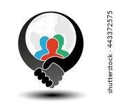 vector community symbol with... | Shutterstock .eps vector #443372575
