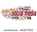 concept or conceptual social... | Shutterstock . vector #443377051