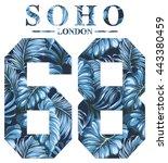 soho london vintage artwork for ... | Shutterstock .eps vector #443380459