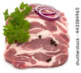 Raw Pork Neck Chop Meat With...