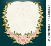 vintage decorative floral card... | Shutterstock .eps vector #443386894