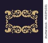 vintage baroque ornament. retro ... | Shutterstock .eps vector #443391031