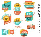 collection of sale discount... | Shutterstock .eps vector #443392231