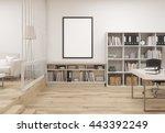 creative contemporary cozy... | Shutterstock . vector #443392249