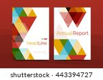 color business brochure cover... | Shutterstock . vector #443394727