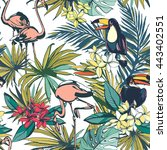 vector illustration tropical... | Shutterstock .eps vector #443402551