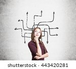 different direction concept... | Shutterstock . vector #443420281