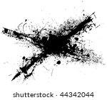 black ink grunge splat with... | Shutterstock .eps vector #44342044