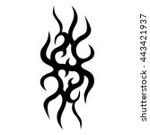 tattoo tribal vector design... | Shutterstock .eps vector #443421937