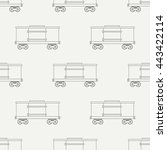 seamless line pattern with... | Shutterstock .eps vector #443422114