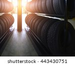 tire rubber products   group of ... | Shutterstock . vector #443430751