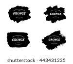grunge frame set. vector... | Shutterstock .eps vector #443431225