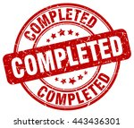 completed. stamp | Shutterstock .eps vector #443436301