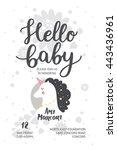 Baby Shower Poster  Vector...