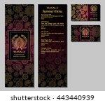 vector illustration of a menu... | Shutterstock .eps vector #443440939