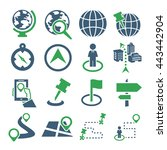 location  place icon set | Shutterstock .eps vector #443442904