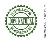 label design for olive oil... | Shutterstock .eps vector #443444371