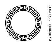 decorative round frame.... | Shutterstock .eps vector #443444659