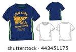 american flag t shirt designs | Shutterstock .eps vector #443451175