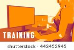 training concept course with... | Shutterstock . vector #443452945