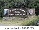 Black Canyon National Park Sign