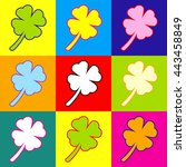 leaf clover sign. pop art style ...