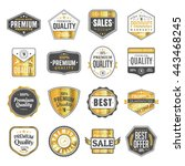 set of vintage stickers for... | Shutterstock .eps vector #443468245