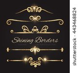 shining dividers and borders... | Shutterstock .eps vector #443468824