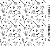 seamless pattern with crowns... | Shutterstock .eps vector #443468899