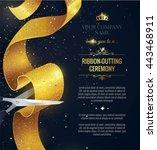 grand opening vertical banner.... | Shutterstock .eps vector #443468911