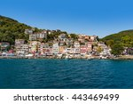 istanbul outer suburbs view on... | Shutterstock . vector #443469499
