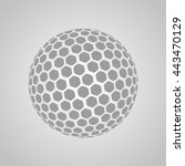 vector golf ball isolated on a