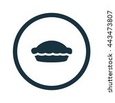 vector illustration of pie icon