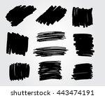 marker stains.grunge banners... | Shutterstock .eps vector #443474191