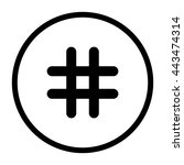 hashtags    black vector icon | Shutterstock .eps vector #443474314