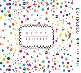 greeting card template.... | Shutterstock .eps vector #443481721
