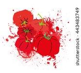 vector illustration of abstract ... | Shutterstock .eps vector #443483749