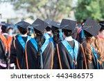 education  people  graduate... | Shutterstock . vector #443486575