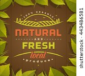 natural and fresh. healthy... | Shutterstock .eps vector #443486581