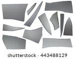 broken glass with sharp pieces... | Shutterstock . vector #443488129