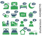 sleep icon set | Shutterstock .eps vector #443488795