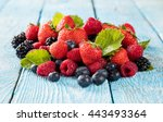 Fresh Berry Fruit Pile With...