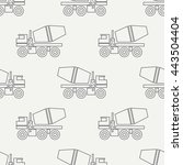 seamless line pattern with... | Shutterstock .eps vector #443504404