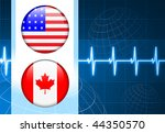 united states and canada flag... | Shutterstock .eps vector #44350570