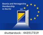 flag of the bosnia and... | Shutterstock .eps vector #443517319