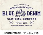 blue denim clothing print for t ... | Shutterstock .eps vector #443517445