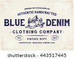 Blue Denim Clothing Print For ...